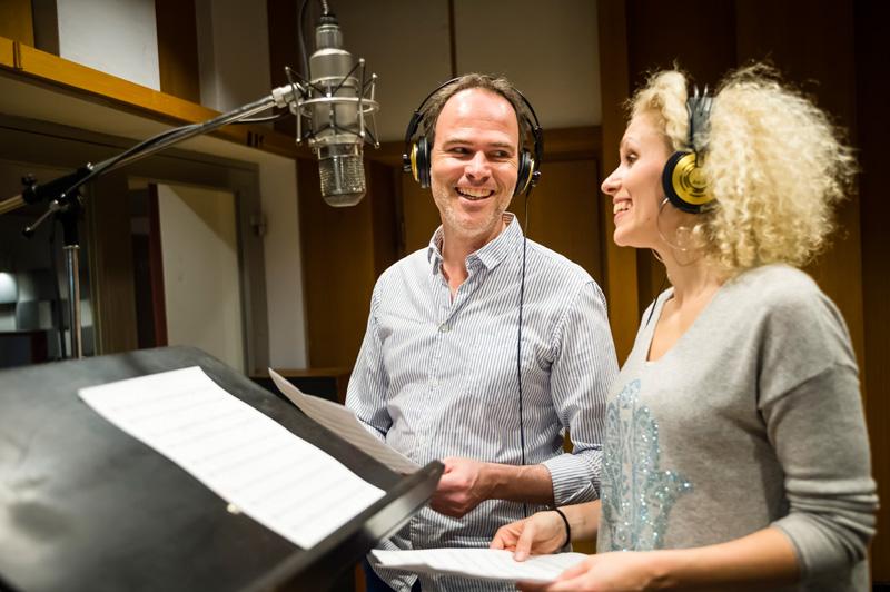 Borchert und Weckerlin im Studio