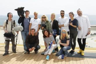 Making of TUI Cruises Presents Franziska van As Godmother For 'Mein Schiff 4'