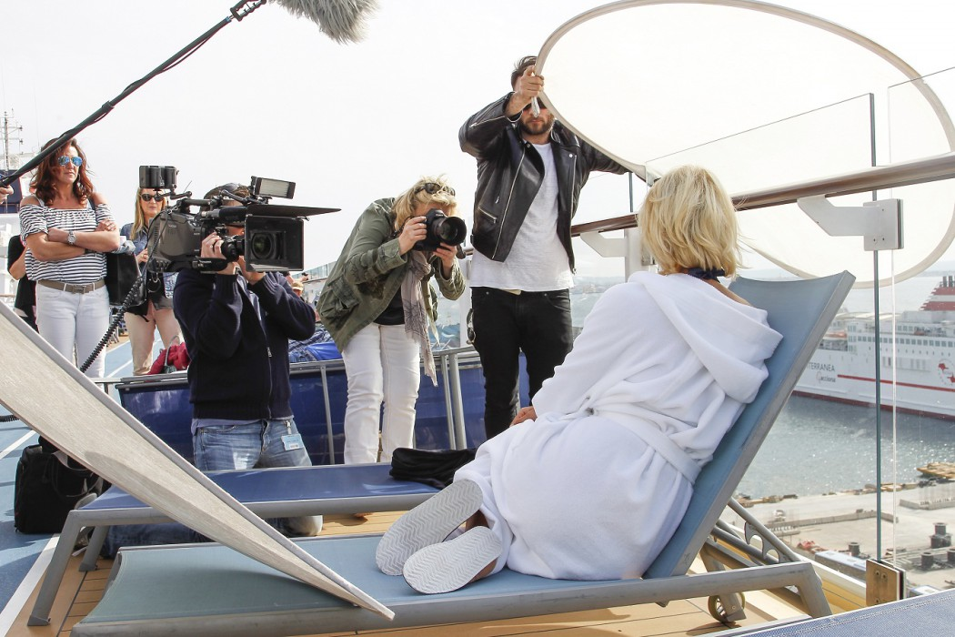 Making of TUI Cruises Presents Franziska van As Godmother For 'Mein Schiff 4'