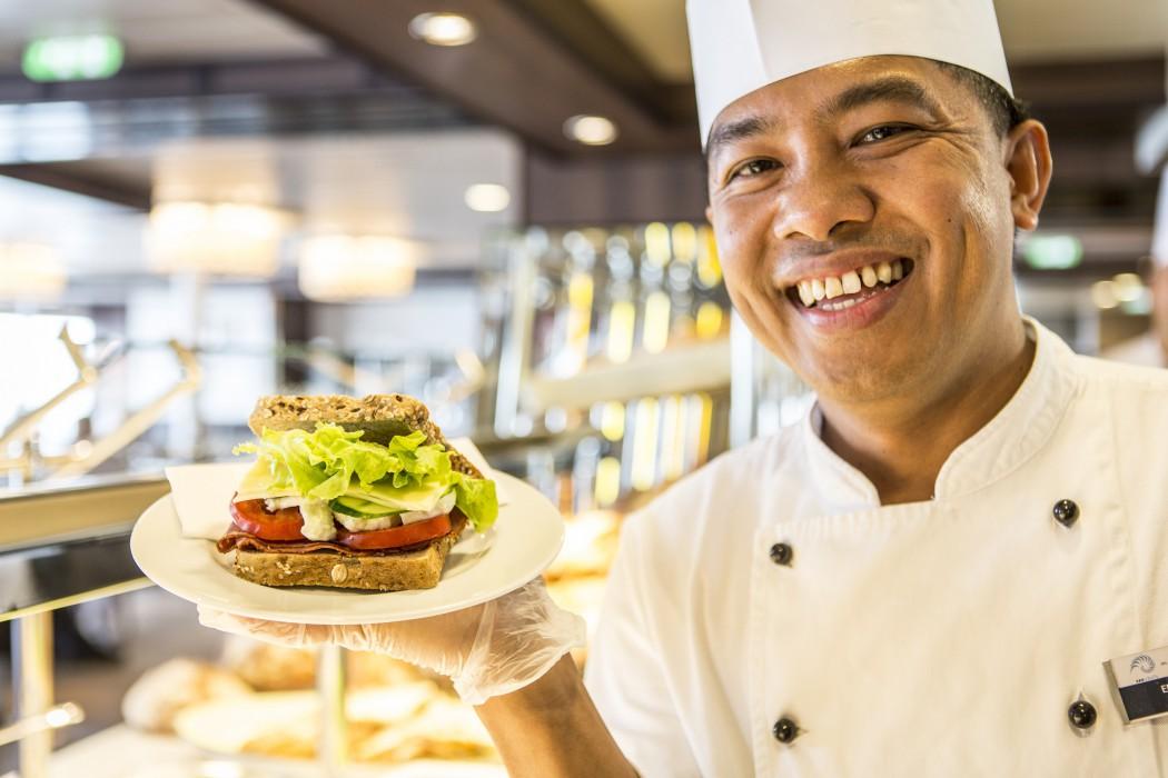 Mit Liebe gemacht: Die Sandwiches auf der Mein Schiff 3