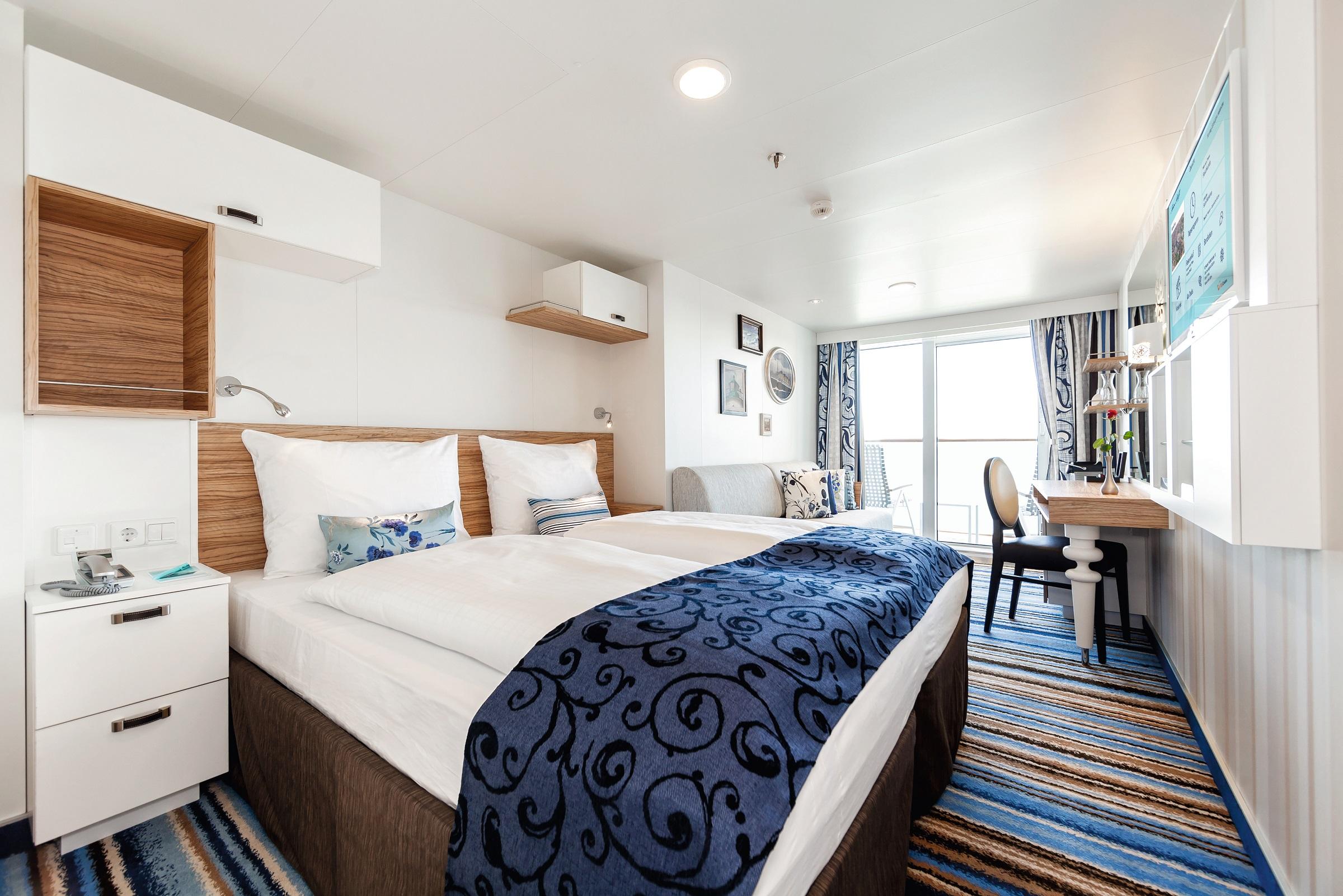 Die Balkonkabinen auf den Neubauten von TUI Cruises