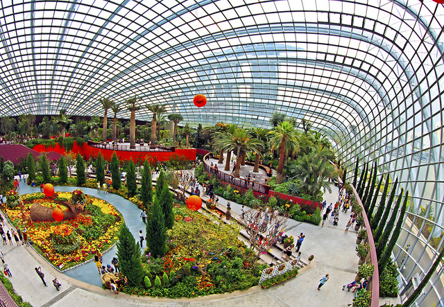 Der Flower Dome in Singapur