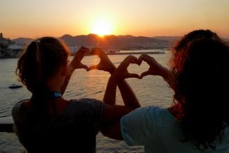 Sonnenuntergang auf der Mein Schiff 2
