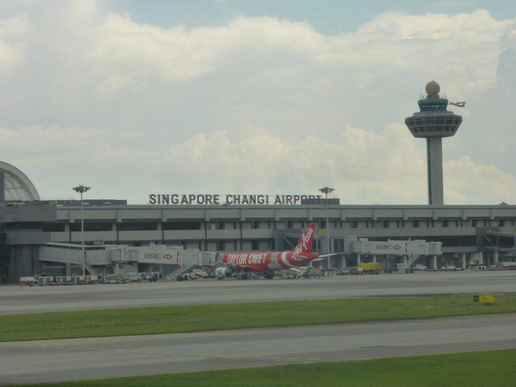 Der Abflughafen Singapur Changi