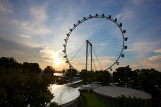 Eine Riesenrad der Superlative: der Singapore Flyer