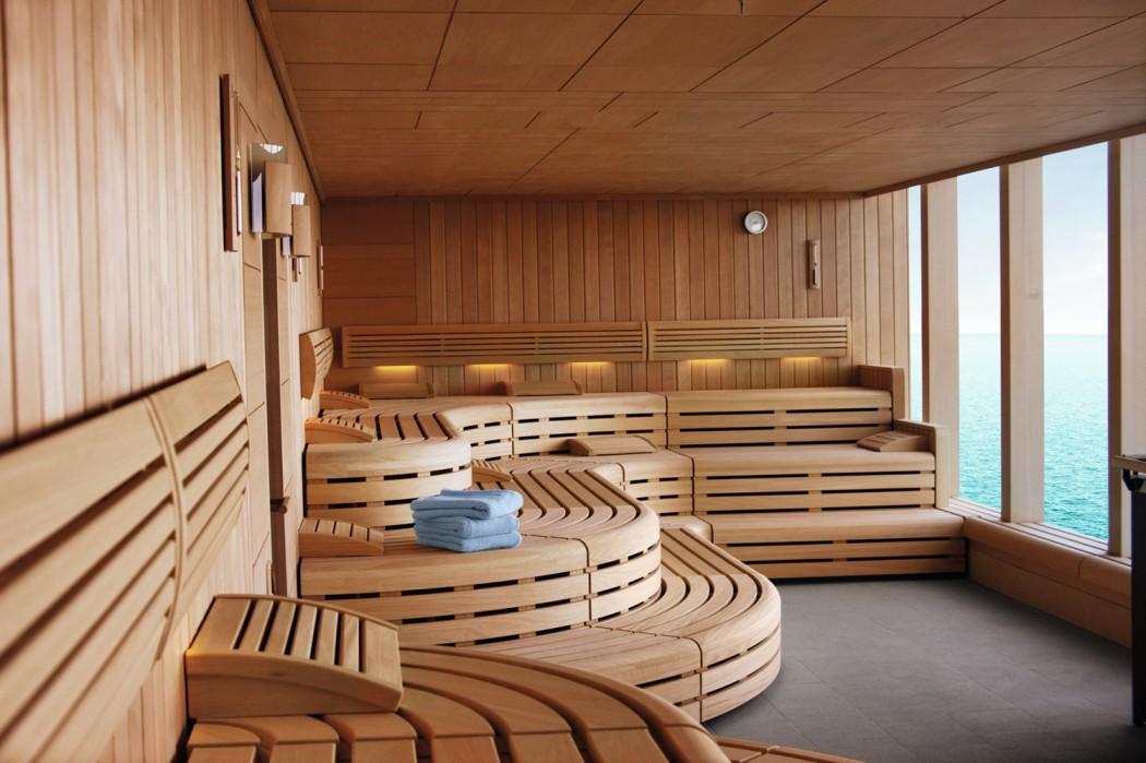 Die finnische Sauna mit Panoramafenster