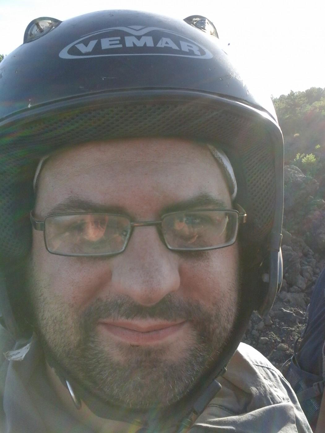 Mein Schiff Blog-Autor Torben Knye nach der Quad-Tour am Ätna