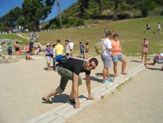 Start frei! Klaus Schneider im historischen Olympia