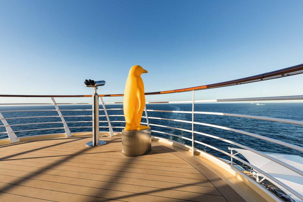 Ausguck an Bord der Mein Schiff 4
