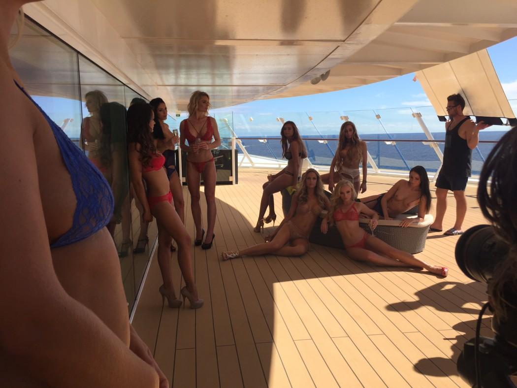 Auf dem Sauna Sonnendeck der Mein Schiff 4