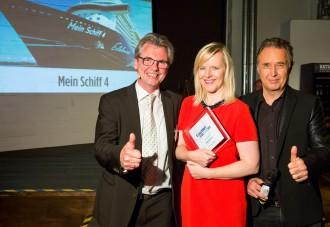 Kreuzfahrt Guide Awards 2015; Preisverleihung in Hamburg am 12.11.2015. Foto: Udo Geisler