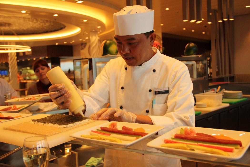 Sushi Workshop an Bord der Mein Schiff Flotte von TUI Cruises 2