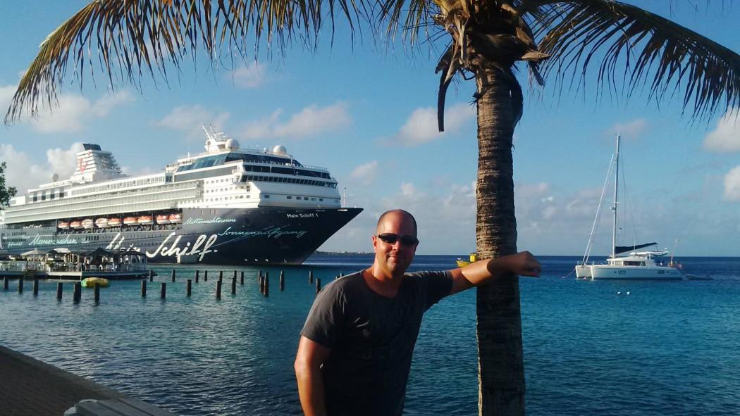TUI Cruises Mitarbeiter Jens Kröger in der Karibik