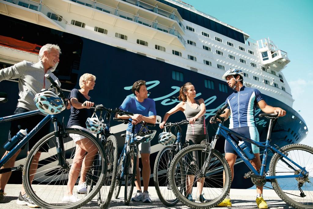 Sehr beliebt: die Bike Ausflüge mit den Mein Schiff Bikes