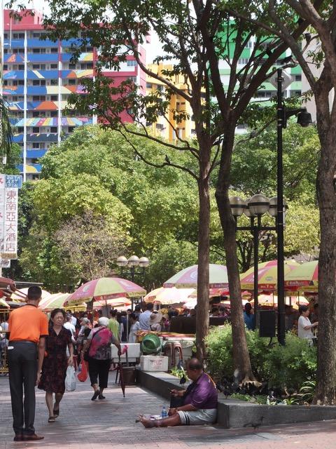 Die Waterloo Street in Singapur