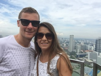 Vicky und Ben in Singapur
