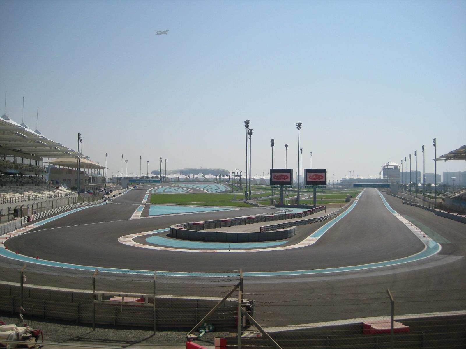 Formel 1 Rennstrecke in Abu Dhabi
