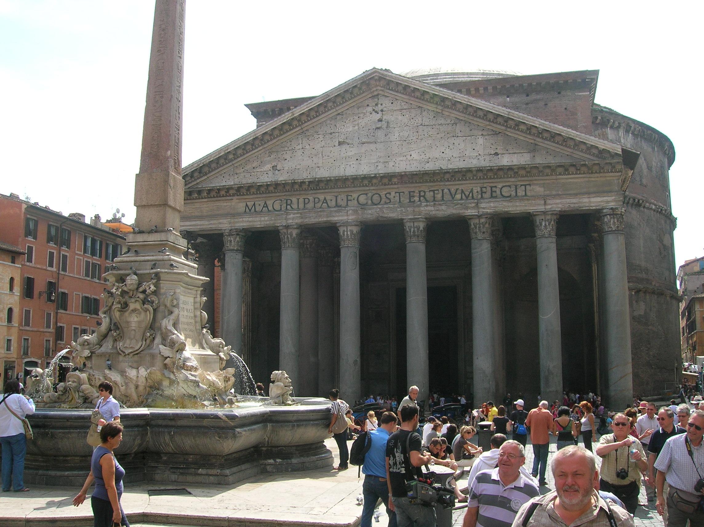 Das Pantheon in Rom mit der Mein Schiff entdecken