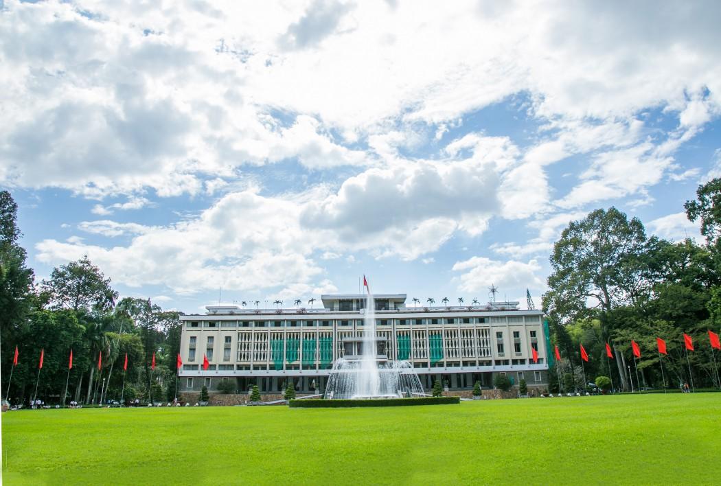 Der Wiedervereinigungspalast in Ho Chi Minh-Stadt