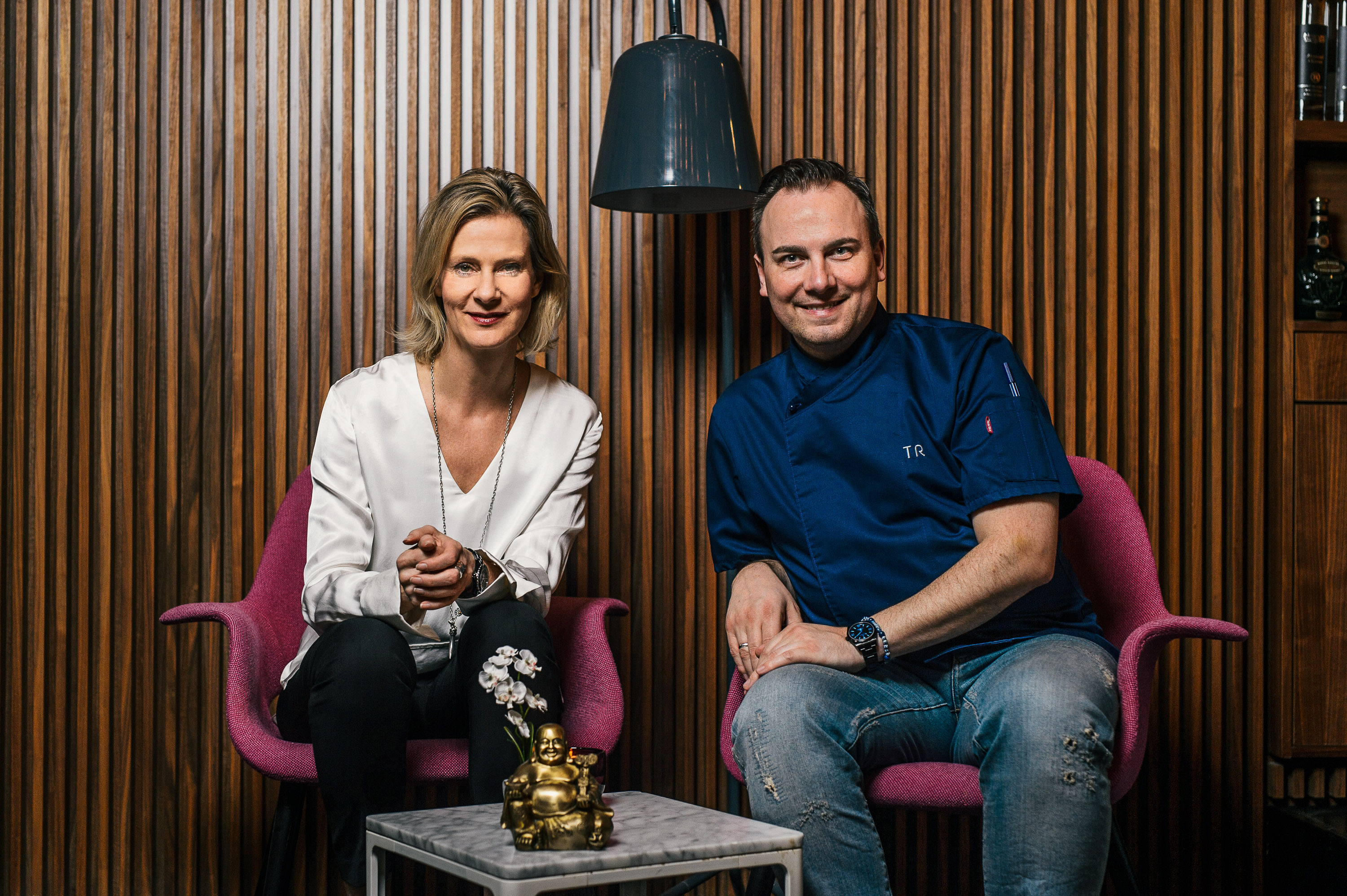 Gemeinsame Sache - Wybcke Meier, CEO von TUI Cruises, und Tim Raue, Sternekoch