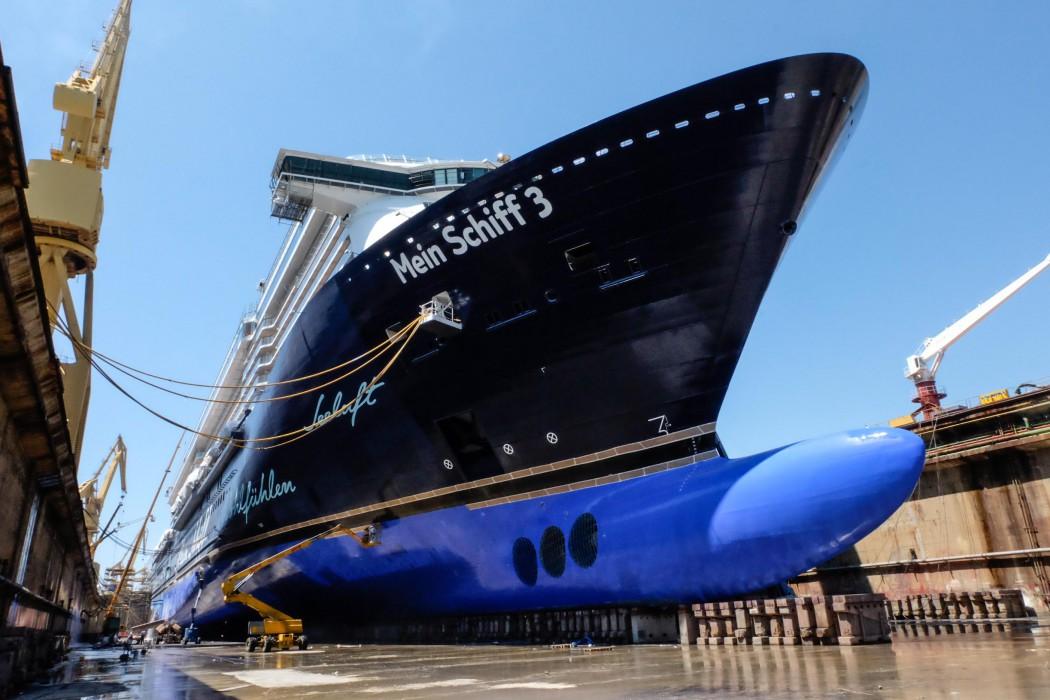 Die Mein Schiff 3 in der Navantia-Werft in Cádiz
