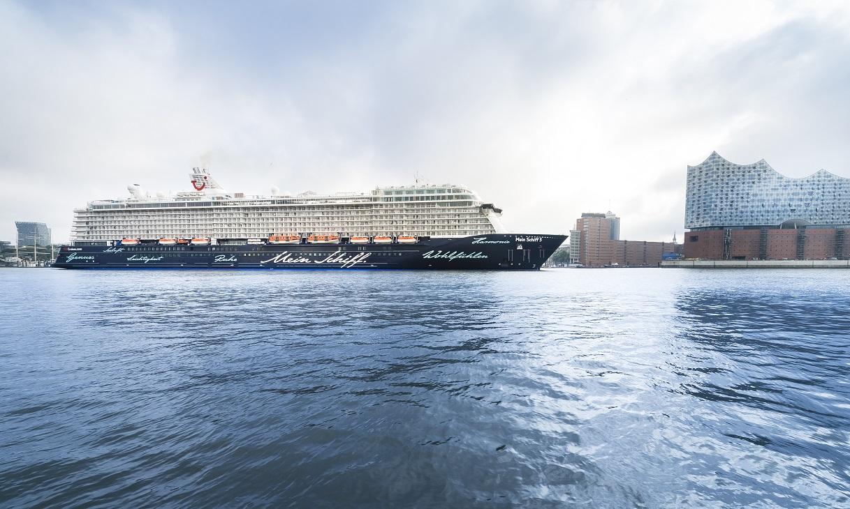 Zum ersten Mal in Hamburg: Mein Schiff 5