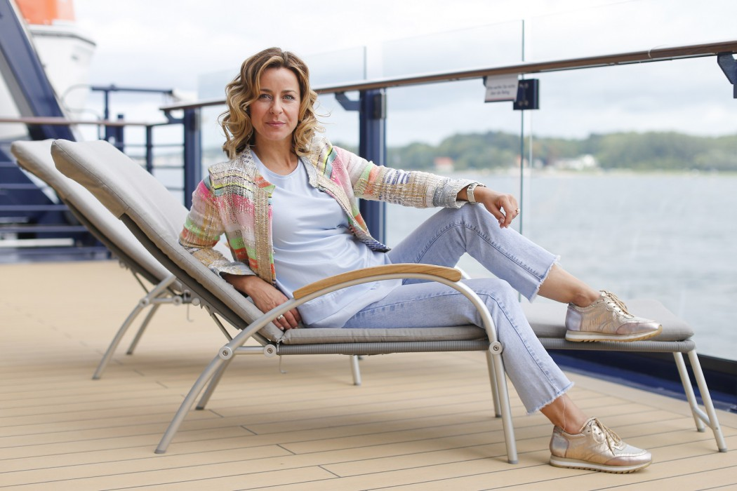 Prominenter Mein Schiff 5 Taufgast: Bettina Cramer (Photo by Franziska Krug/Getty Images for TUI Cruises)