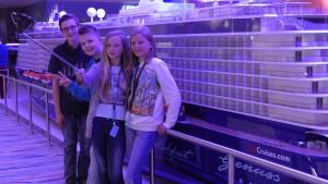Mein Schiff Kids: Luisa, Pauline, Julian und Nico