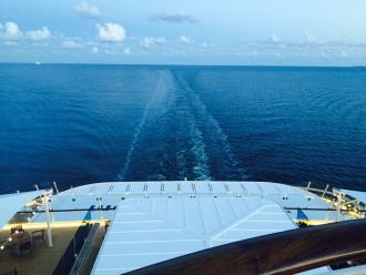 Einfach zum genießen: Der Blick aufs offene Meer