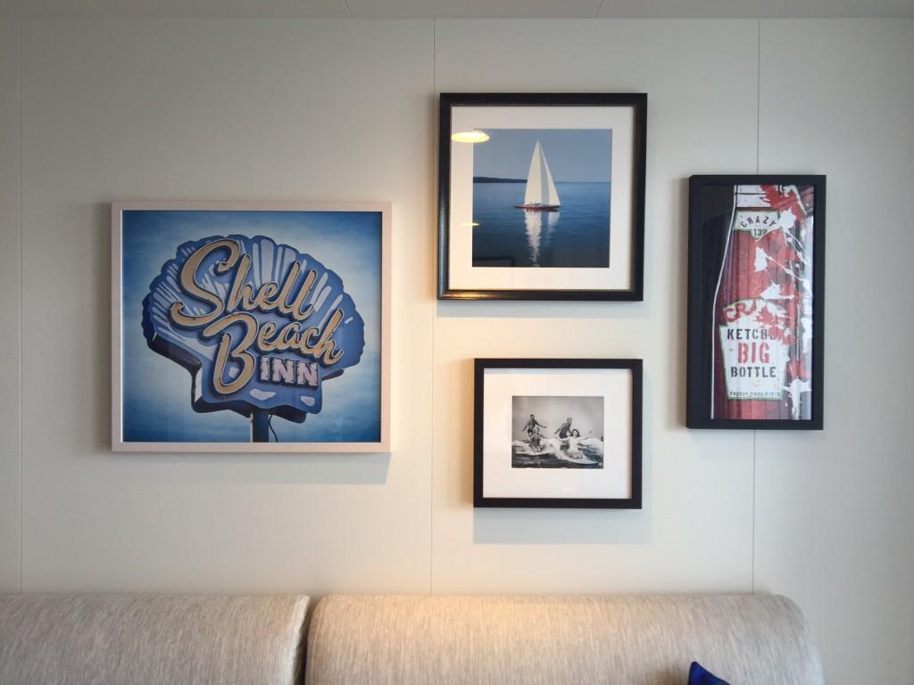 Kunst von LUMAS in der Kabine der Mein Schiff 5