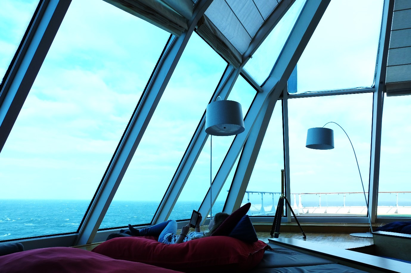 Unendlicher Weitblick in der Himmel & Meer Lounge