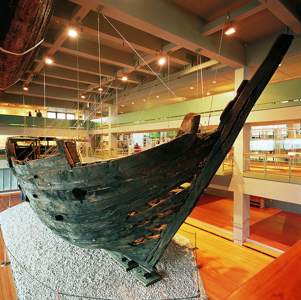 Hanse Kogge im Deutschen Schifffahrtsmuseum in Bremerhaven