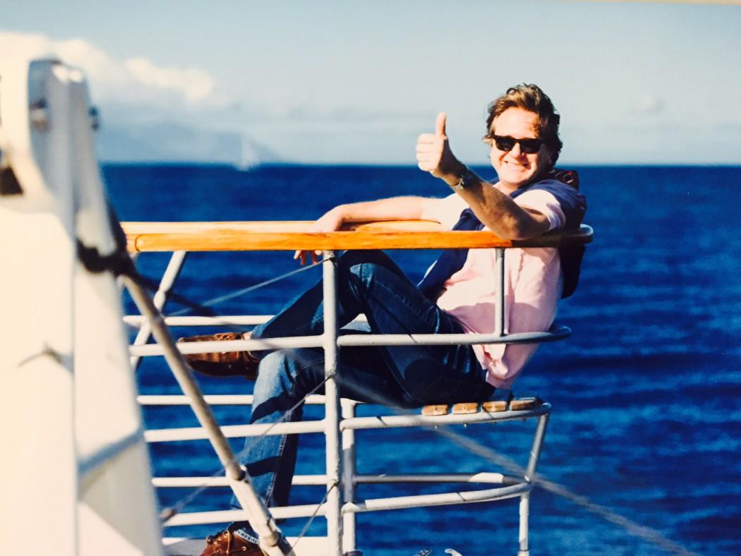 Frank Behrendt auf Ausflug mit der Mein Schiff Flotte