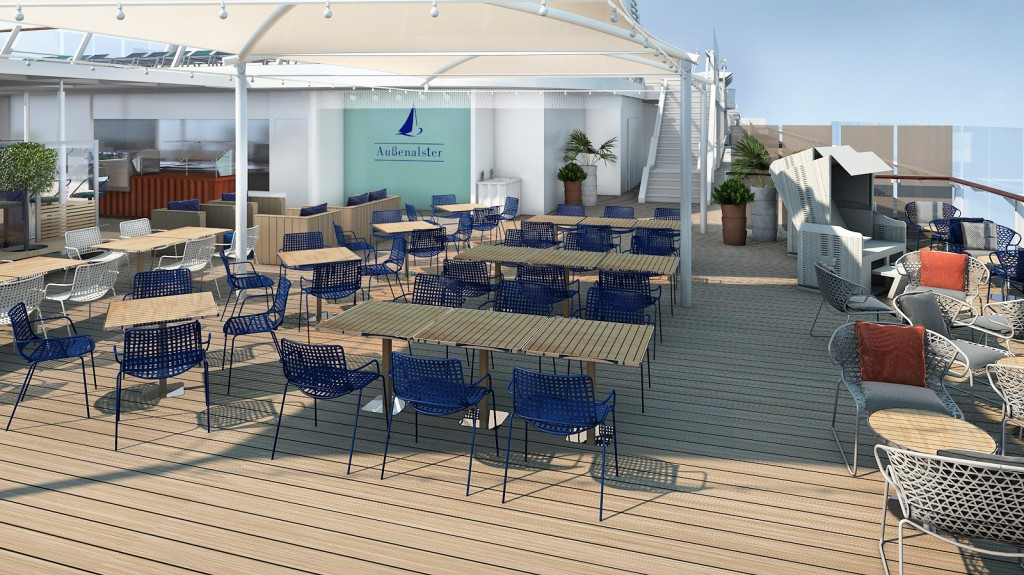 Strandkörbe an der Außenalster Bar & Grill auf der Mein Schiff 6
