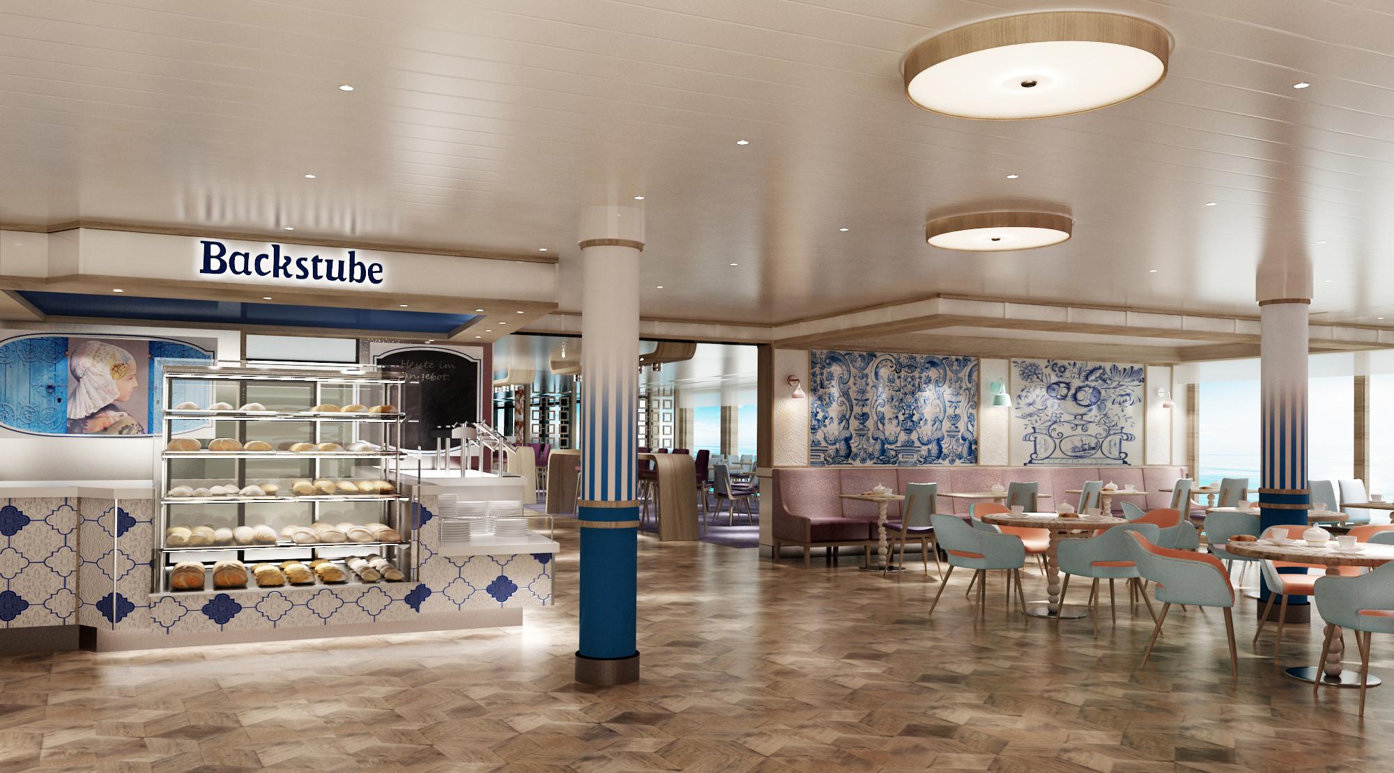Backstube im neuen Design auf der neuen Mein Schiff 1 (c)TUI Cruises
