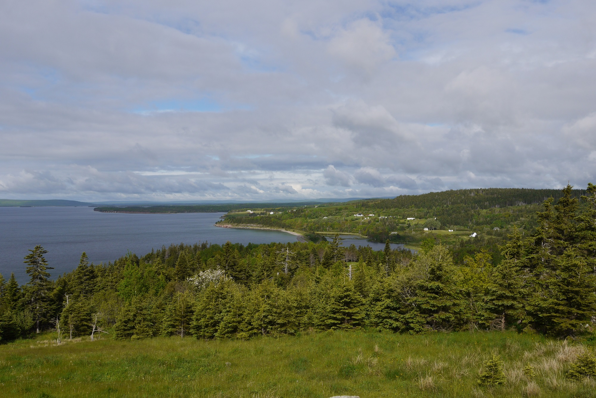 Blick vom Highland Village auf Cape Breton (C) Stefanie Nake
