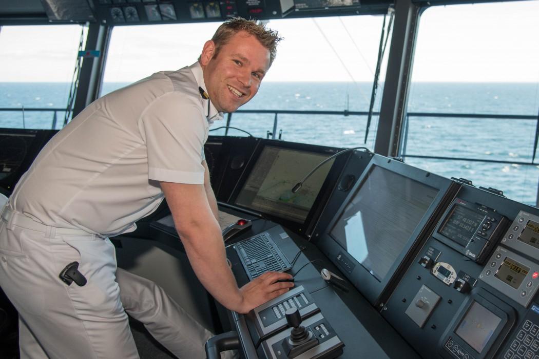 Auf der Brücke: Mein Schiff Chief Navigation Officer Sören Anderl