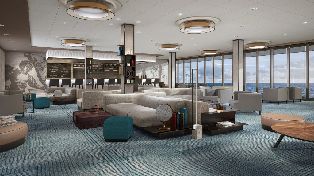 Himmel und Meer Lounge auf Deck 12 (c)TUI Cruises