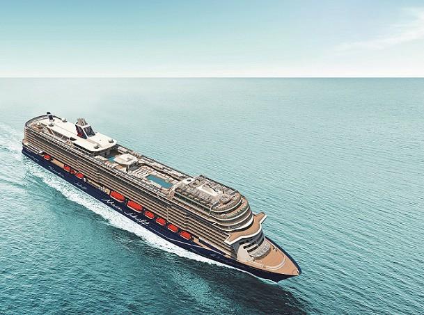 Neue Mein Schiff 1 aus der Vogelperspektive (c)TUI Cruises