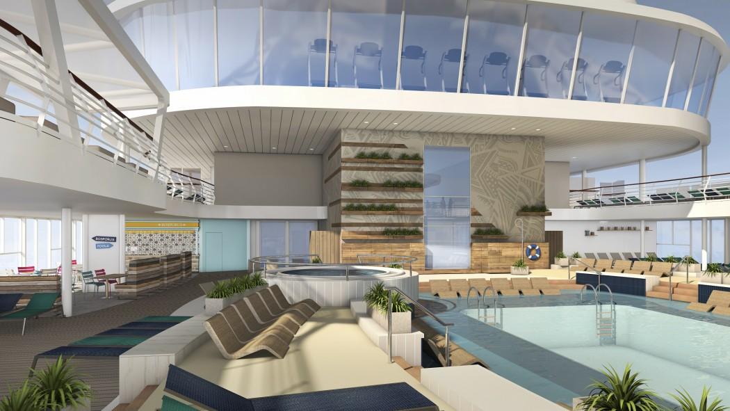 Offene Lagune unter freiem Himmel (c)TUI Cruises
