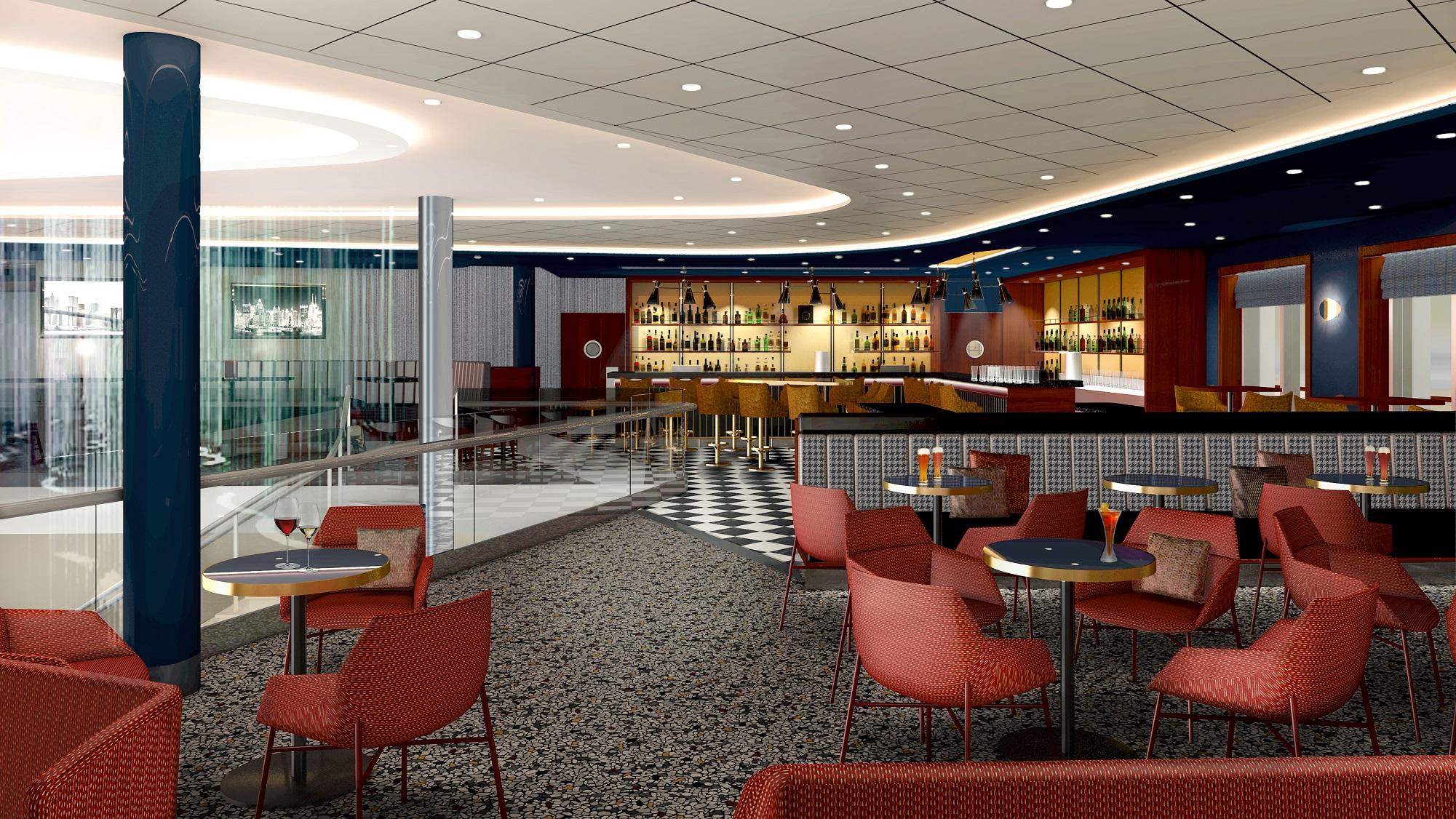 Die Schau Bar auf der neuen Mein Schiff 1 (c) TUI Cruises