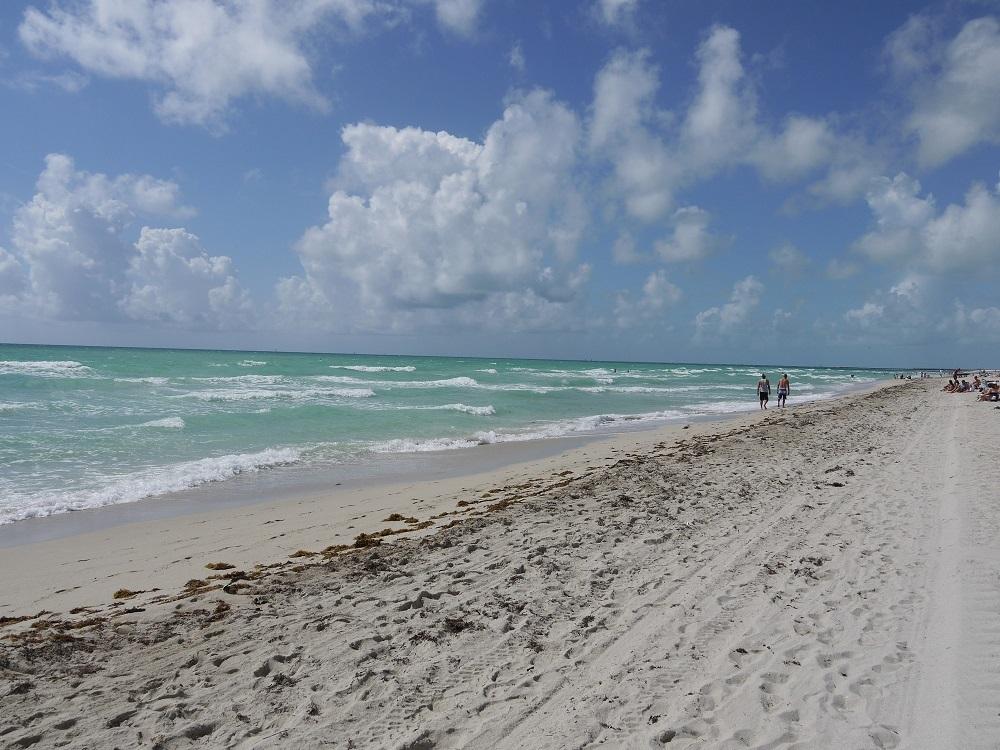 Der Strand von Miami Beach