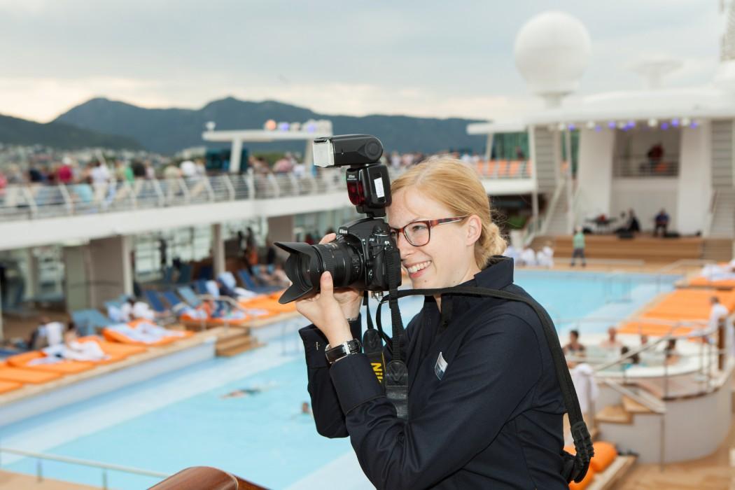 Immer auf der Suche nach einem guten Foto: die Fotografen von Cruise Vision TV