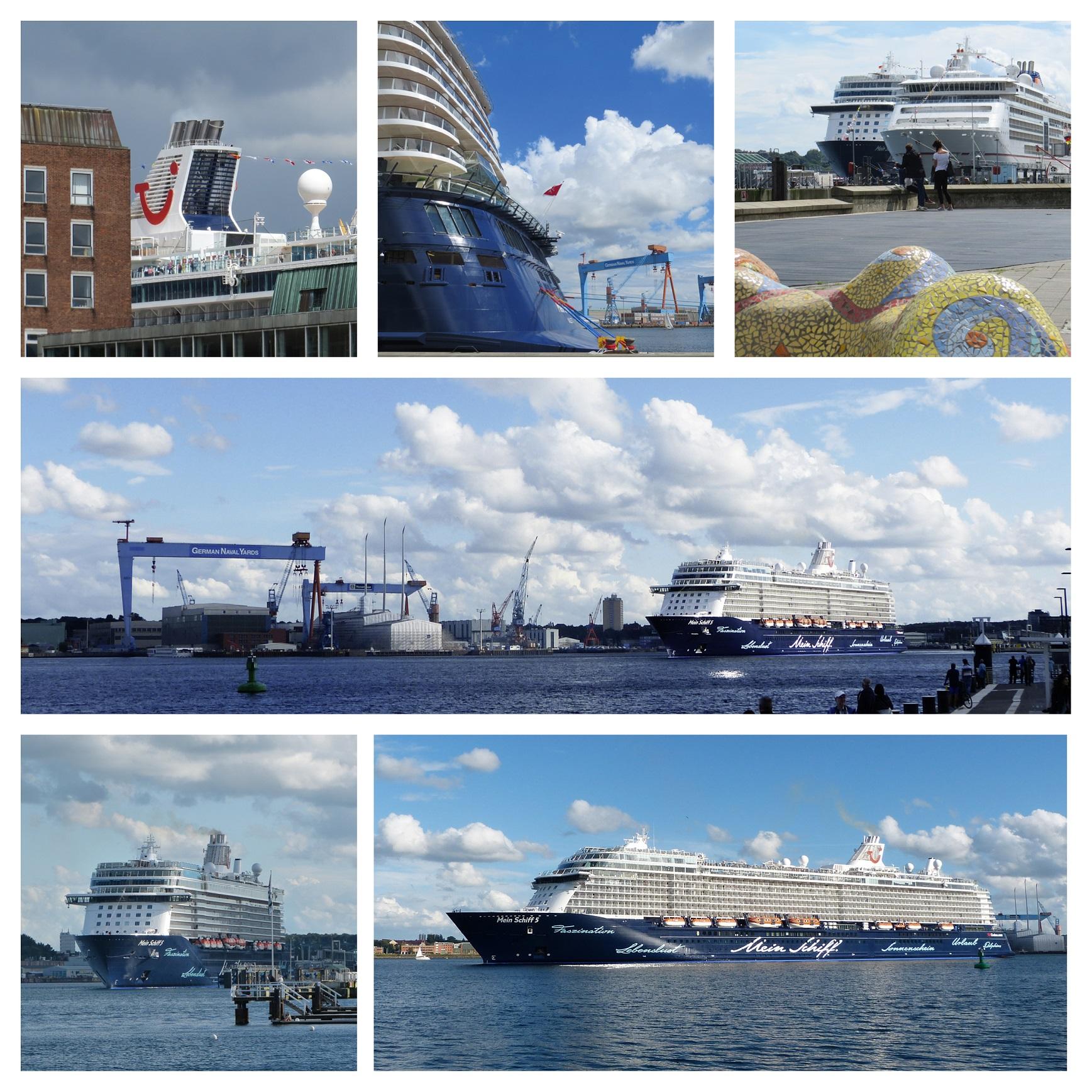 Impressionen von Mein Schiff Häfen wie Kiel