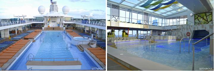 Die Pools der Mein Schiff 4
