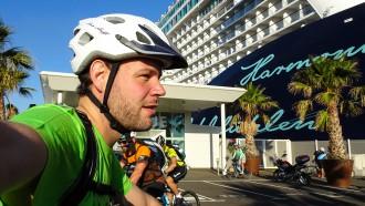 Backpacker Dominik Mohr auf seiner ersten Kreuzfahrt