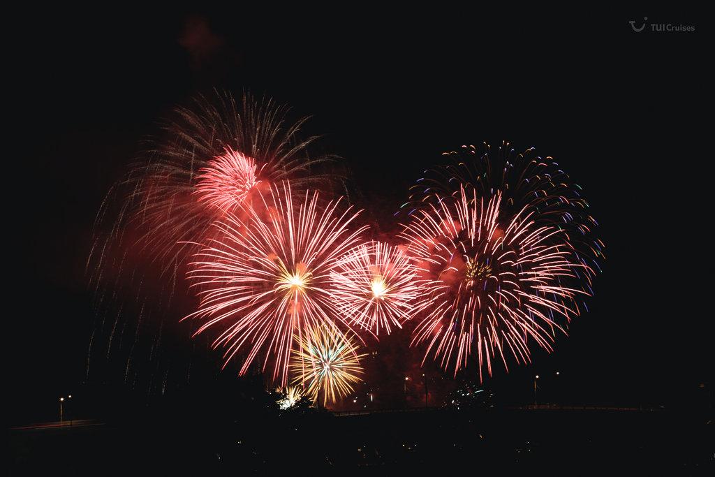 Willkommen 2017 mit Mein Schiff Feuerwerk