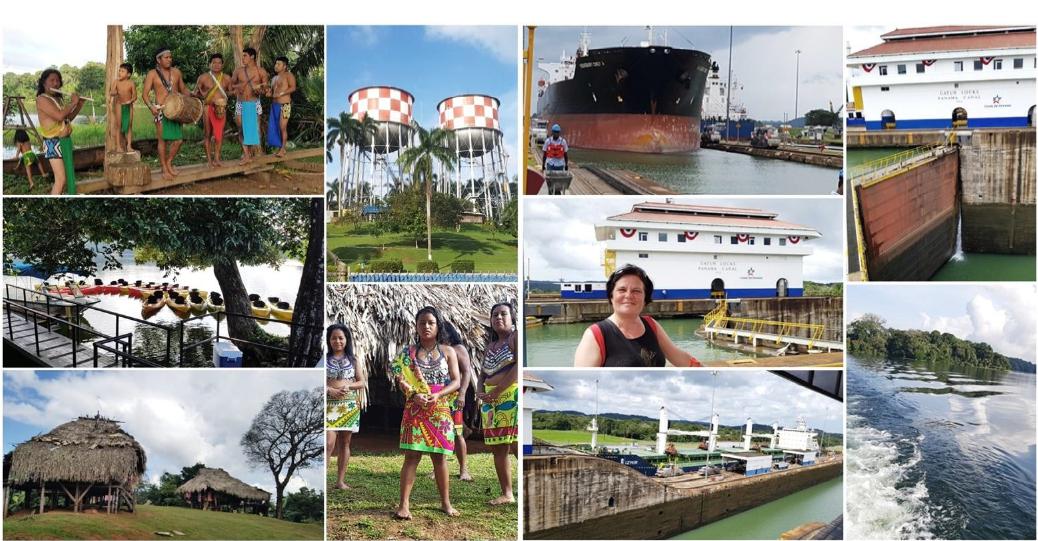 Colón/ Panama: Embera Indianer/Gatun See und Gatun Schleusen