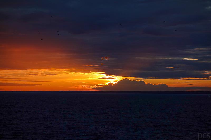 So muss ein Mein Schiff Morgen sein: Die Sonne erhebt sich über das Meer