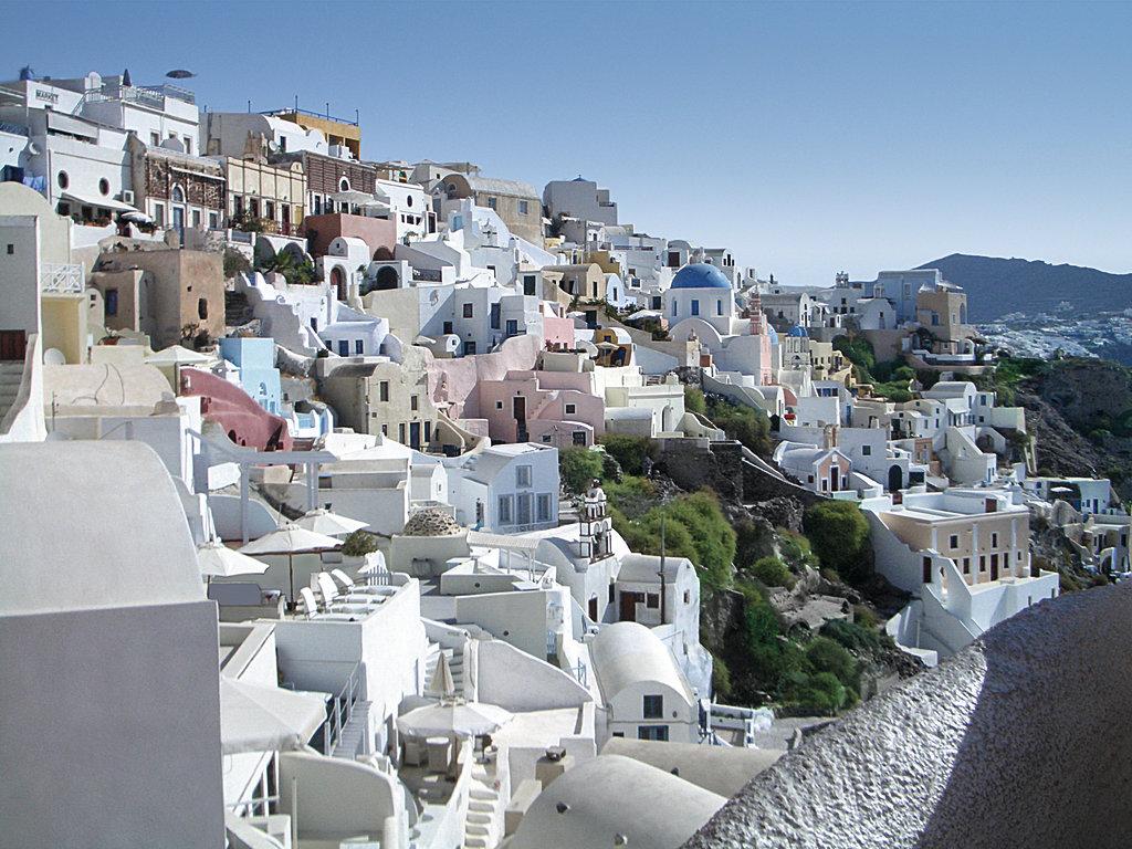 Eine tolle Kulisse in Thira auf der Santorin-Inselgruppe in Griechenland